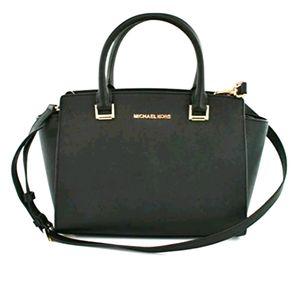 NWOT Michael Kors saffiano leather black bag